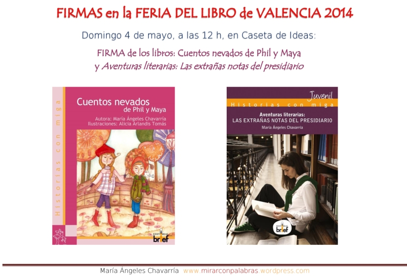 Actividades Feria libro Valencia 2014