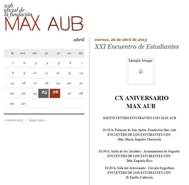Encuentro estudiantes Max Aub 2013