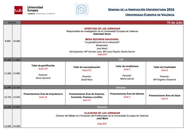 0 Jornada Innovación Universitaria UE