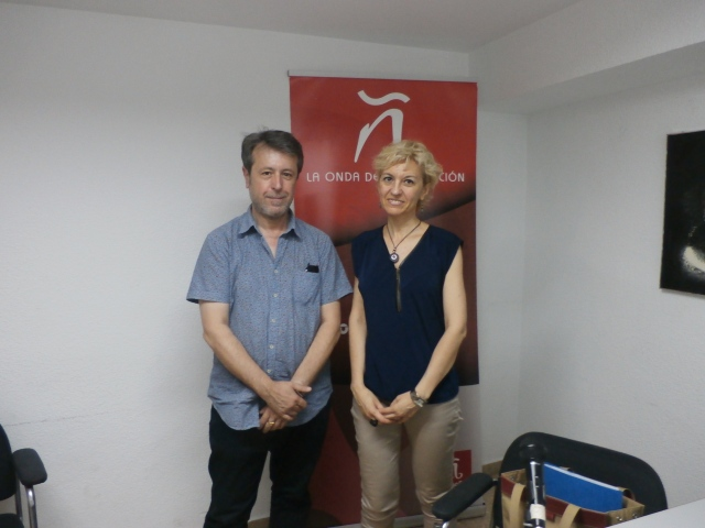 Con el entrevistador, Vicent Climent