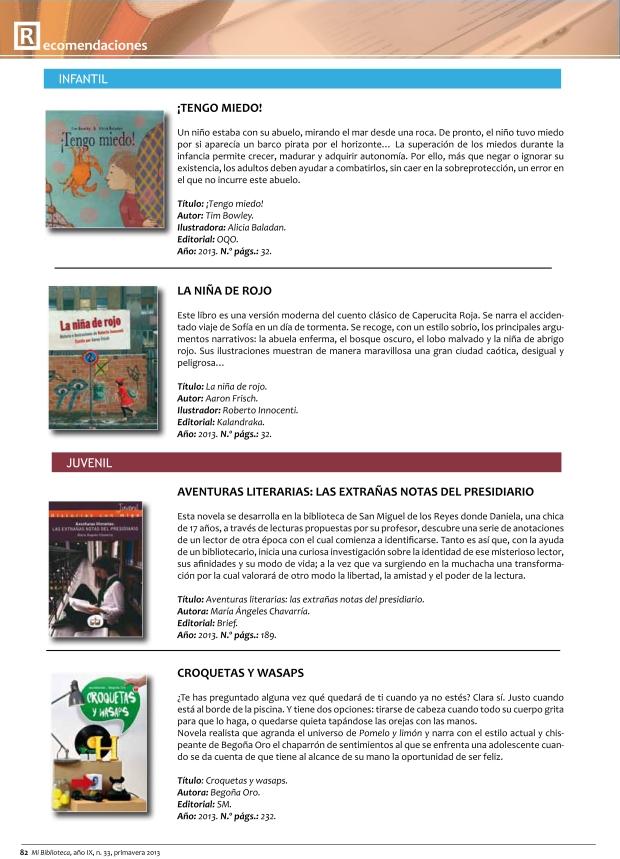Recomendación Aventuras literarias (MiBiblioteca)