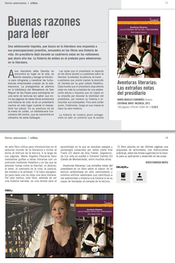 Aventuras literarias en Lletres Valencianes