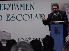 Intervención de Carlos Alcorta, director del Aula de Poesía José Luis Hidalgo