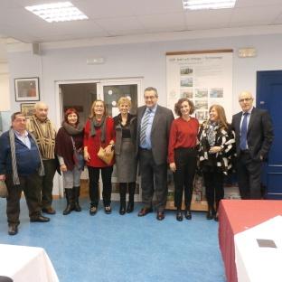 Y con profesores del CEIP José Luis Hidalgo