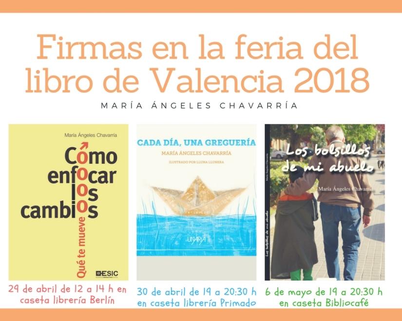 Firmas en la feria del libro de Valencia 2018