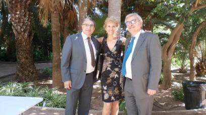 Con Juan Luis Bedins y José Vicente Peiró