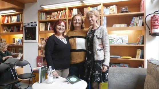 Con las sobrinas de José Luis Hidalgo: María José y Maribel