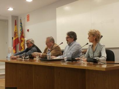 José Vicente Peiró, Jaime Siles, Juan Luis Bedins y María Ángeles Chavarría