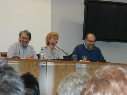 Juan Luis Bedins, María Ángeles Chavarría y César Gavela