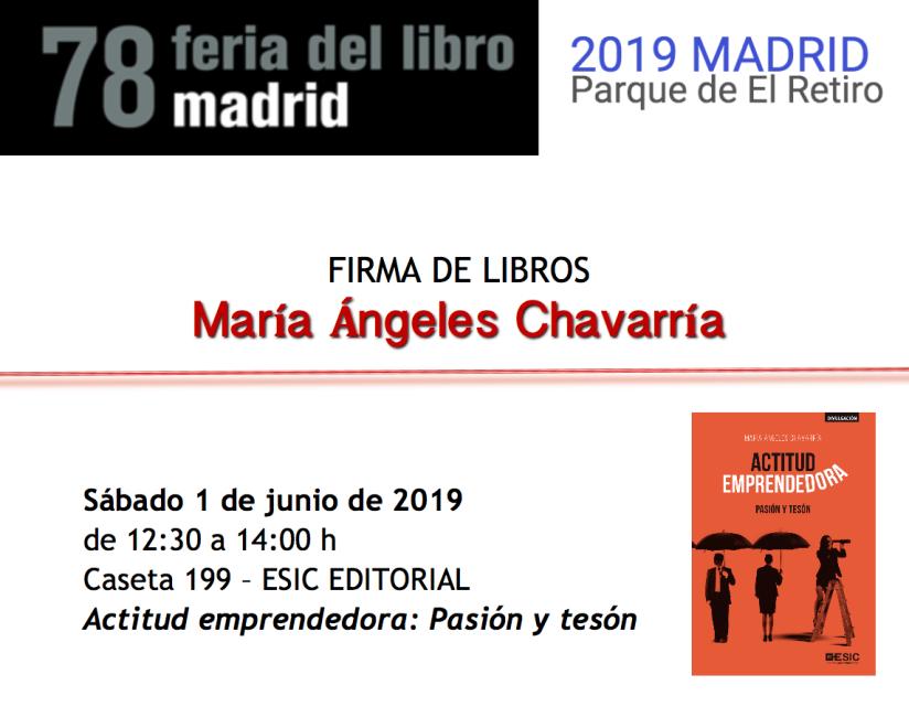 Firma M.A. Chavarría Feria Libro Madrid 2019