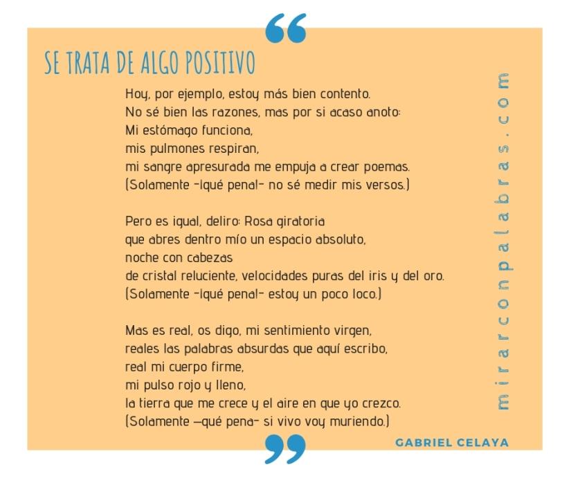 SE TRATA DE ALGO POSITIVO (Gabriel Celaya)