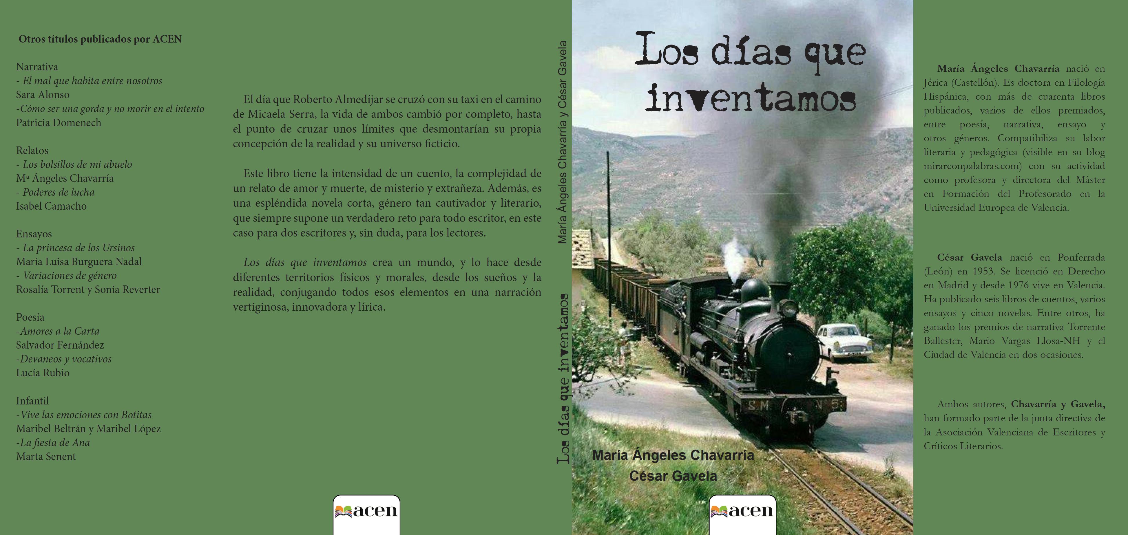Cubierta Los días que inventamos M.A. Chavarría C. Gavela